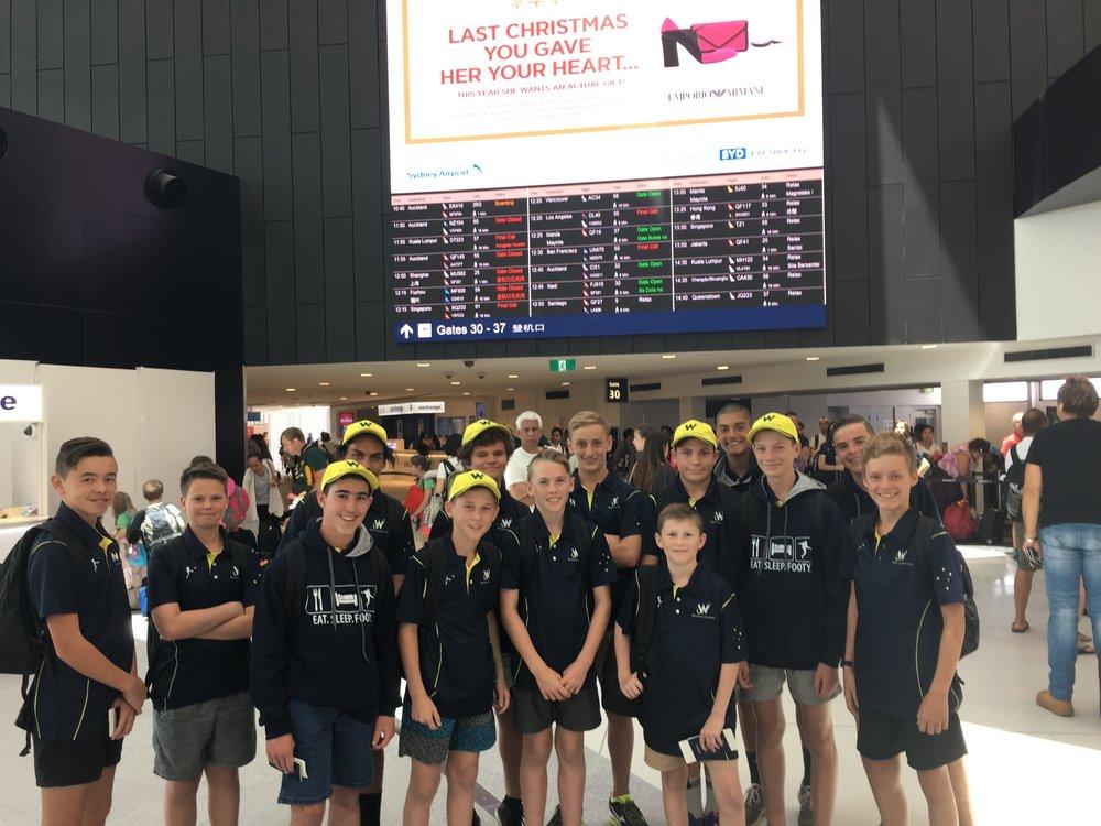 Boys departing Sydney
