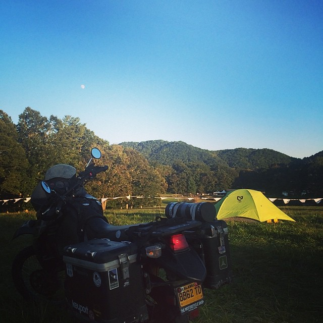 Do yourself a favour and go camping next weekend. #nemo #adventure #huckberry #motorbike #travel #usa #campvibes #alaskatosouthamerica