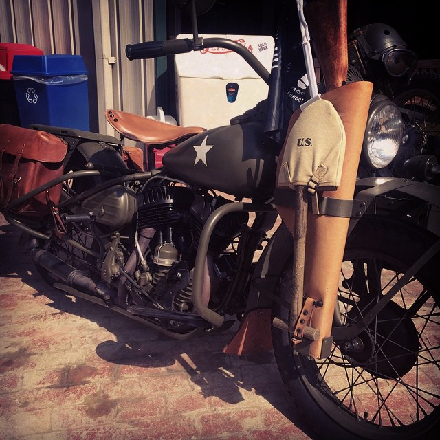 A classic World War 2 Harley Davidson. She runs. Beautifully. #drool #motorbike #shutupandtakemymoney #usa #harley