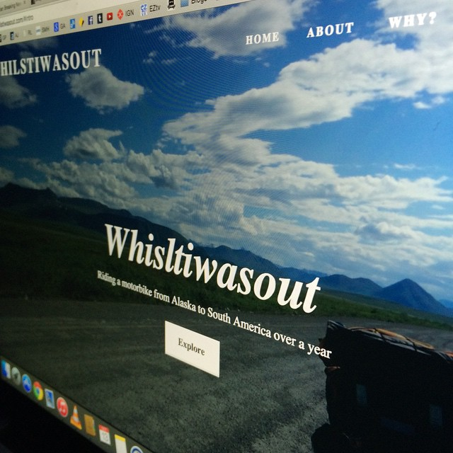 Website updated with shiny goodness. Check it out. Www.whilstiwasout.com