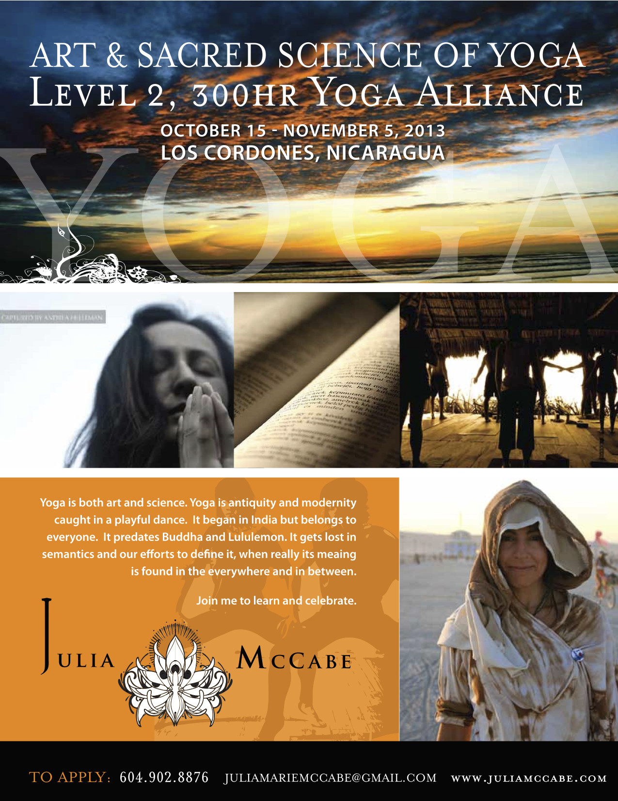 300 Hr Level 2 Flyer Julia McCabe