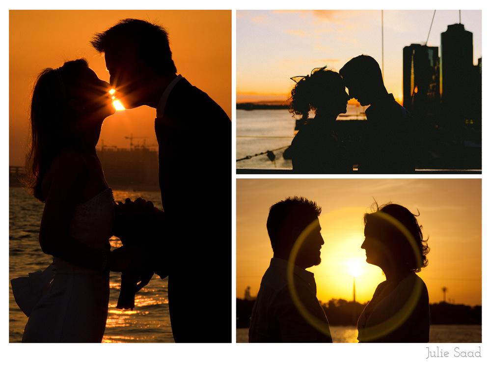 Sunset wedding photographs