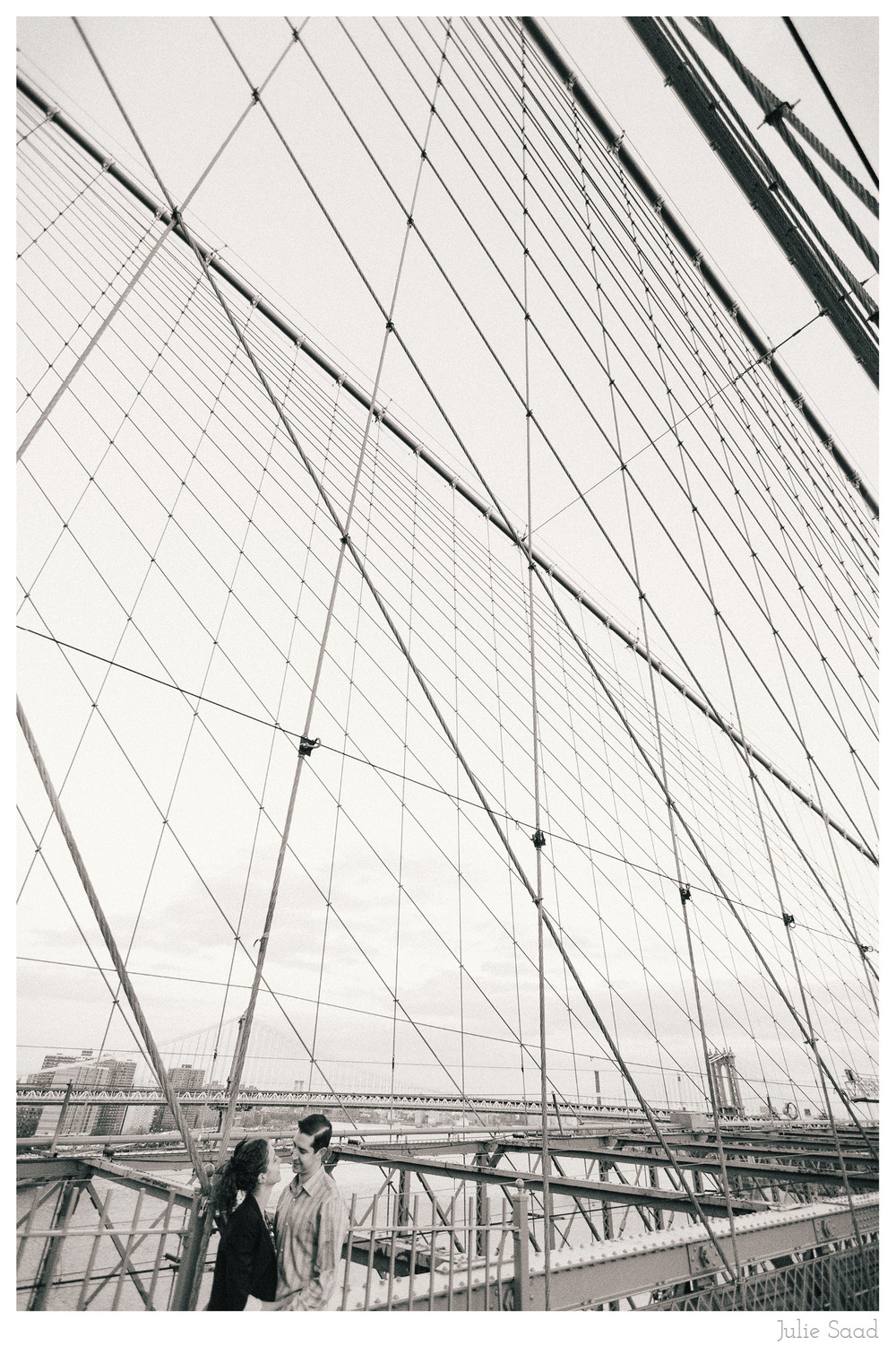 Dramatic Photography on the Brooklyn Bridge