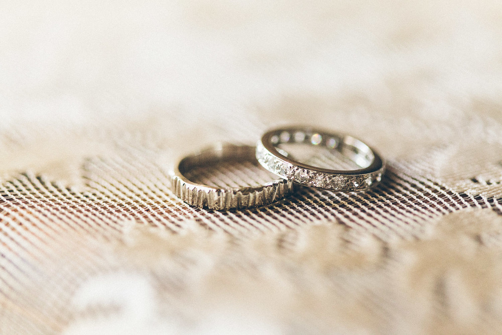 Gorgeous white gold wedding rings