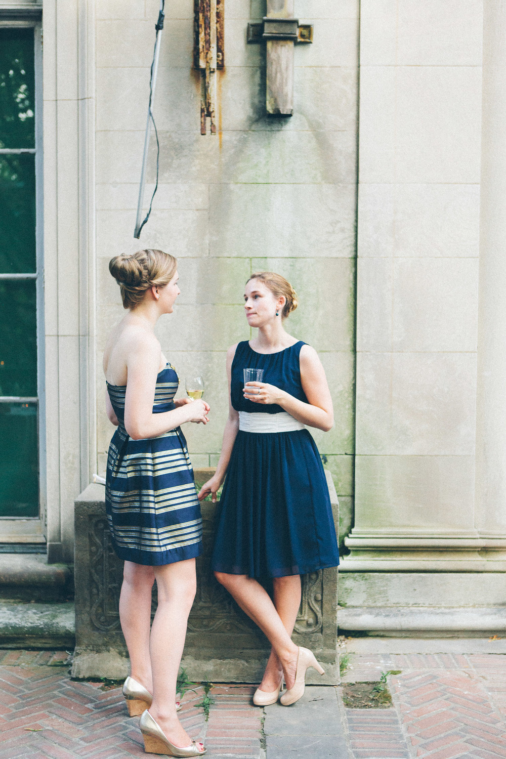 Guests in navy blue at Alder Manor, NY.