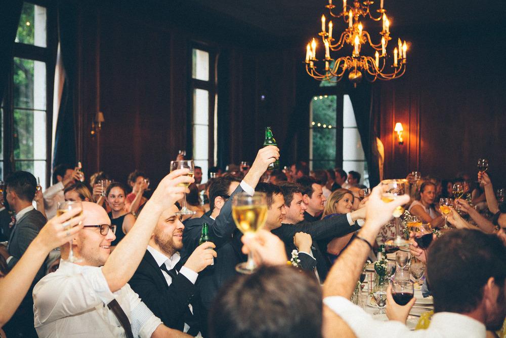 Cheers! Wedding toast.