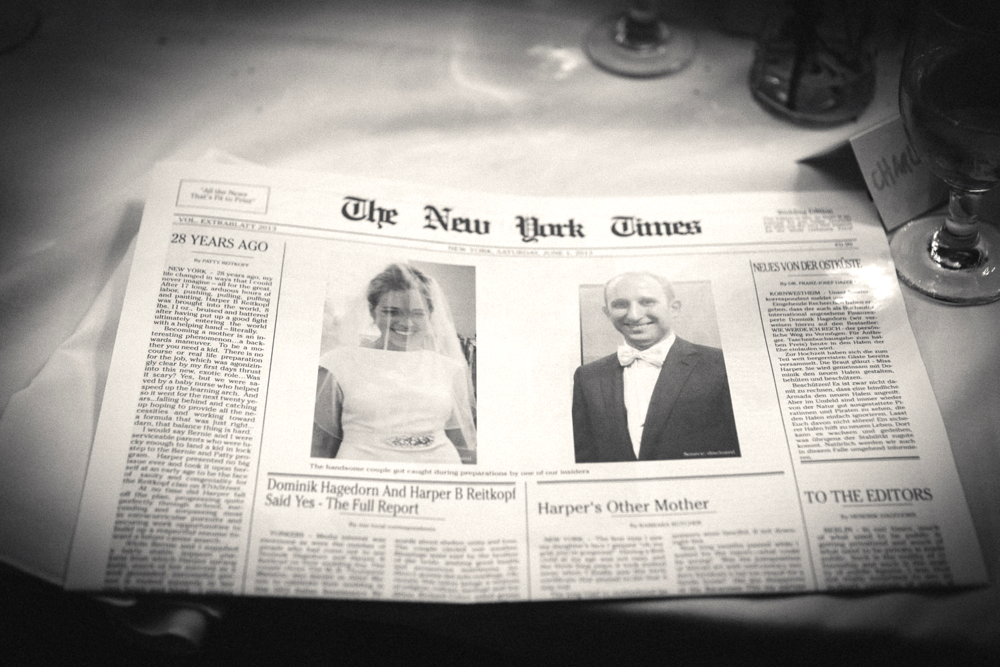 Wedding newspaper!