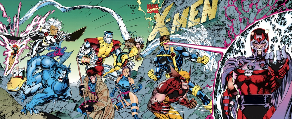 The iconic/infamous Jim Lee cover for X-Men  #1