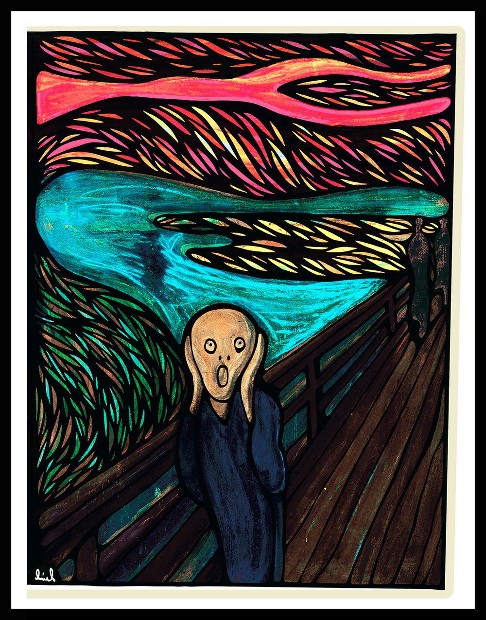 Edward Munch's  1893 The Scream Remastered by Jammycreamer