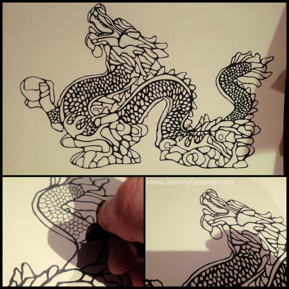 Dragon Born Sktch by JammyCreamer 2016