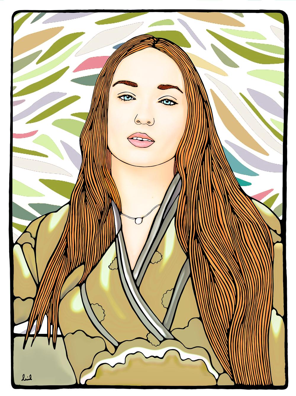 Sansa Stark Game of Thrones/ Sophie turner Portrait 2016