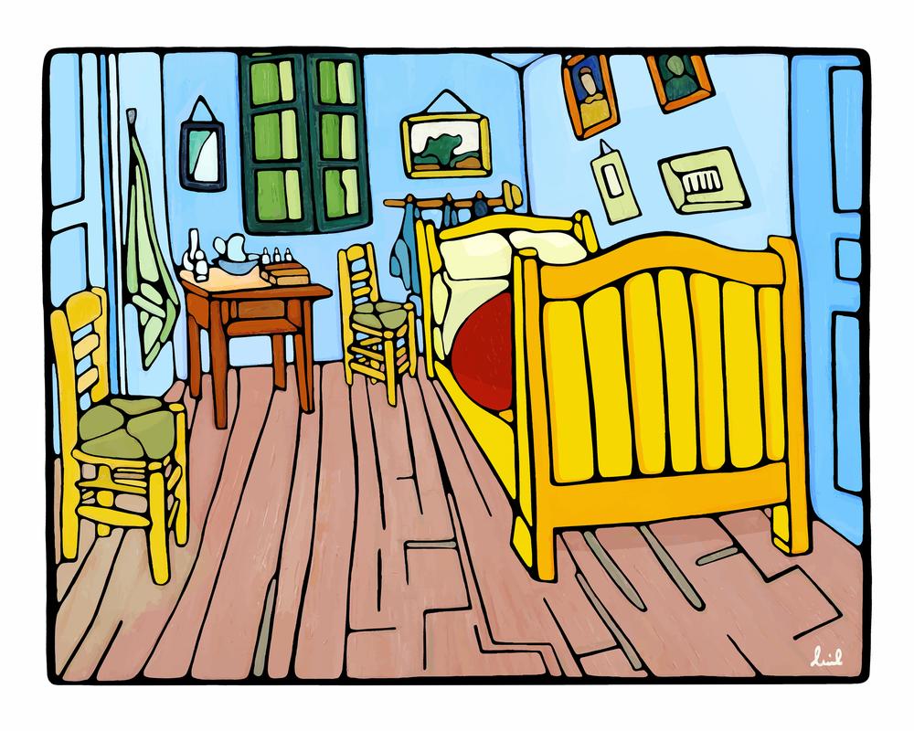 Vincent  Van Gogh's Bedroom in Arles /2016  Collaboration