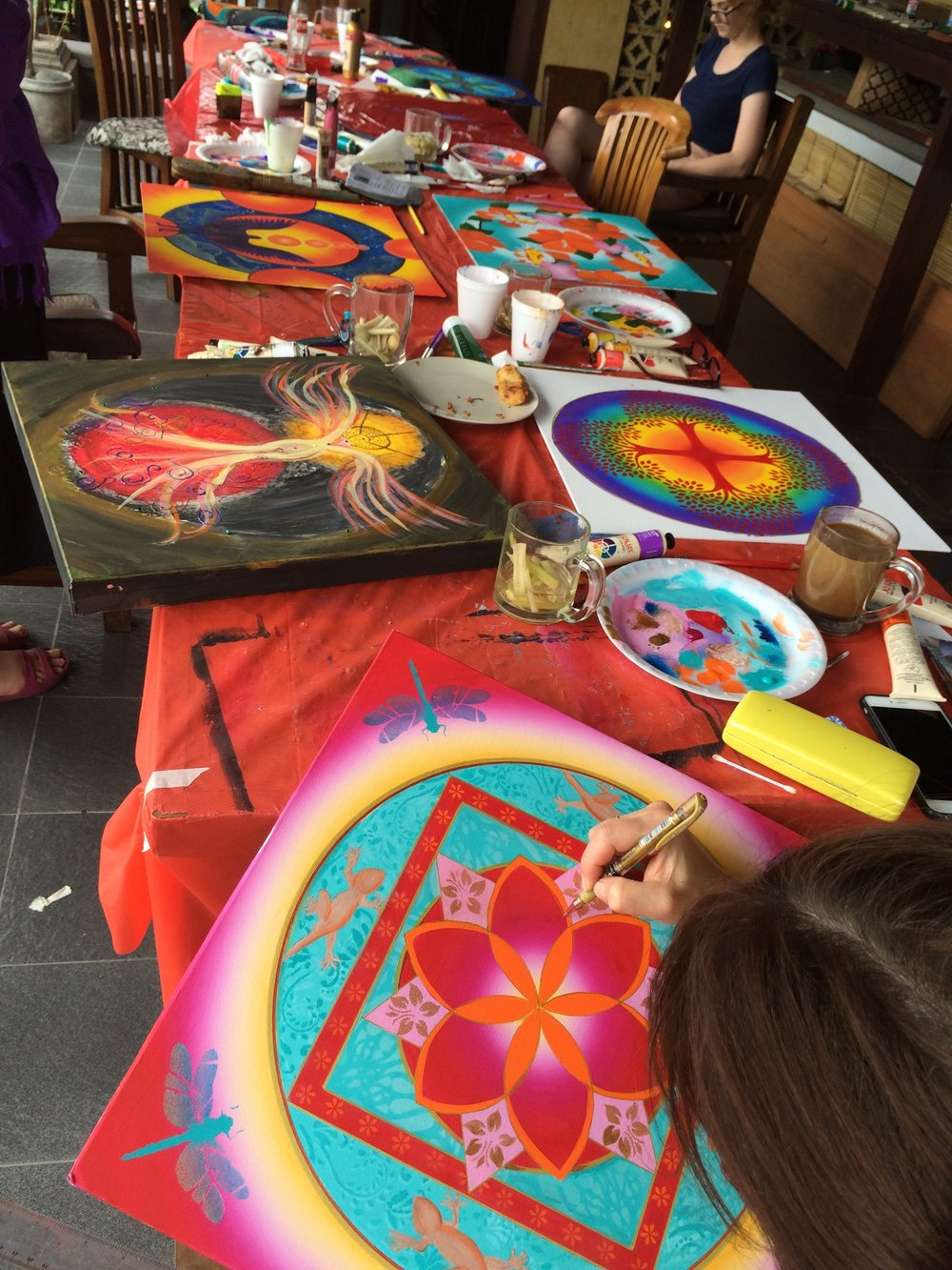 Express, explore, expereince mandalas - Work with an experienced mandala painter learning about art expression and more…