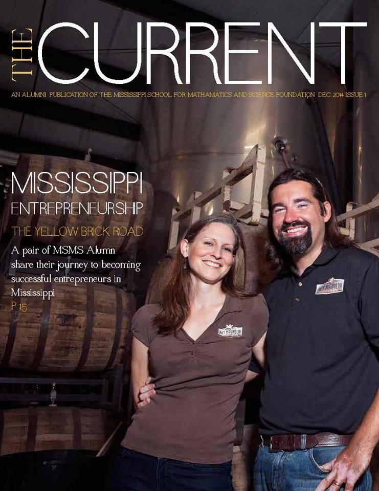 The cover of the first edition of the MSMS alumni magazine, the Current!