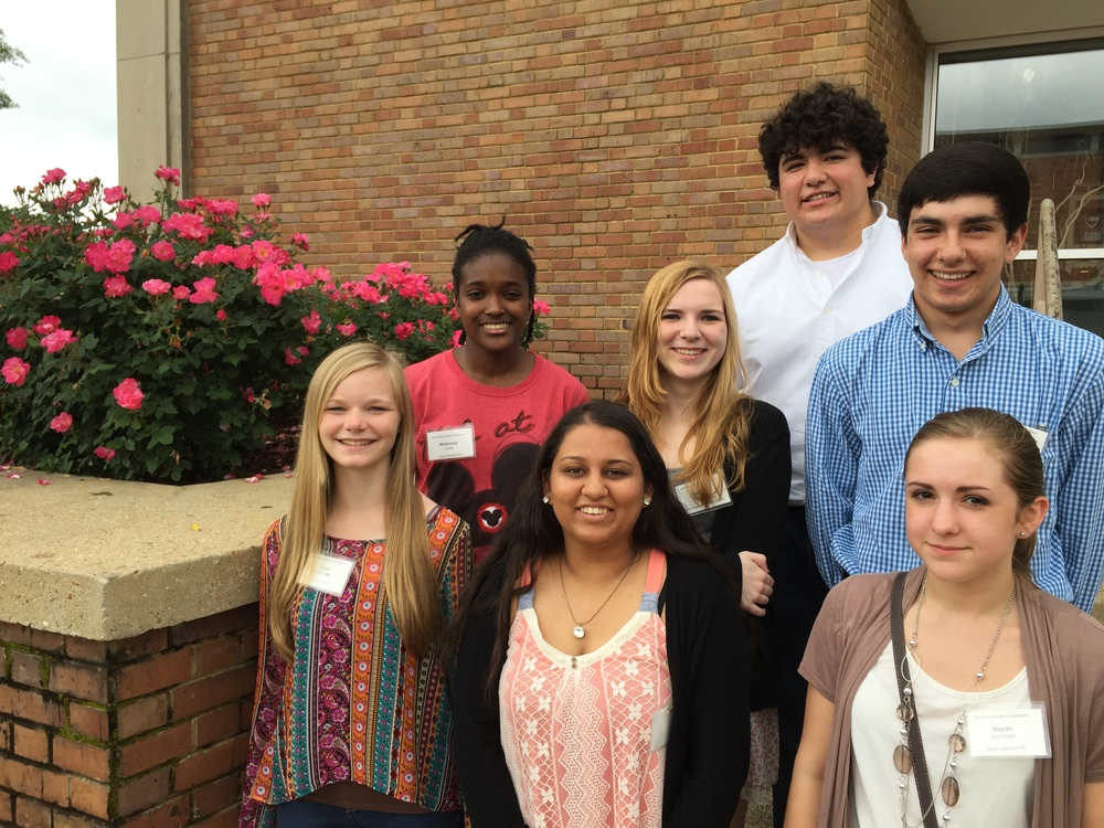 (from top row, left to right) Charles Vickrey, McKenzie Jones, Holiday Garrison, Dipal Patel, Cloie Garris, Ansu Edwards, and Hayden Schroader.