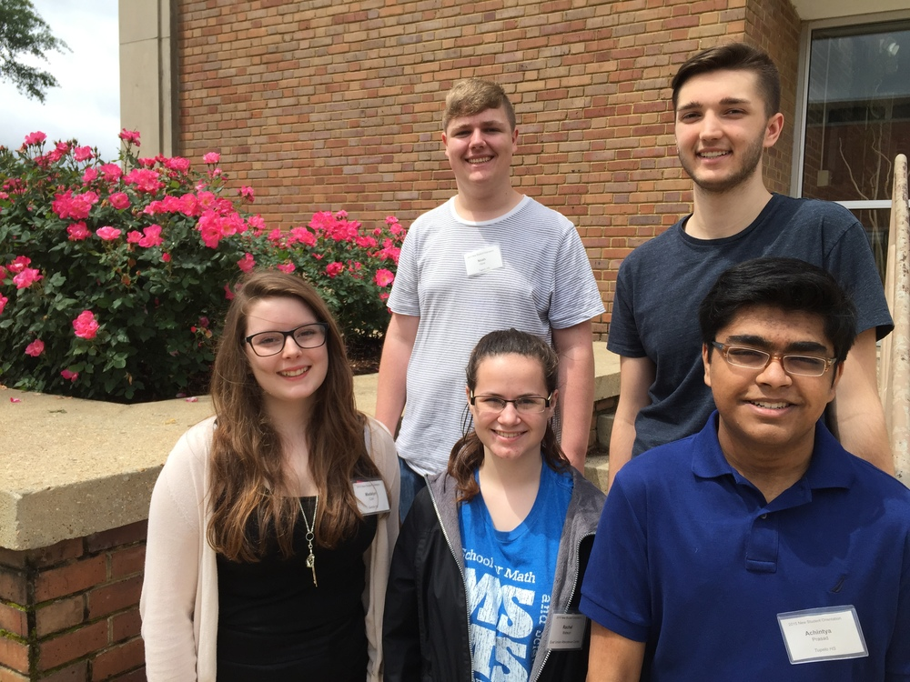(from top row, left to right) Noah Hunt, Tristin Daily, Madalyn Coln, Rachel Watson, and Achintya Prasad.