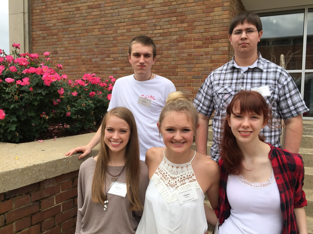 (from top row, left to right) Jeremy McCutcheon, Deven Martin, Maddie Johnson, Virginia Pressly, and Carolyn Donovan.