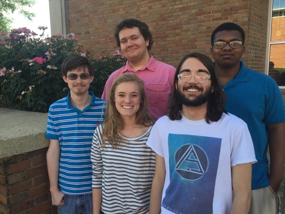 Chris Lowe, Jamarii Robinson, Braxton Joiner, Abby Garmon, and Nicholas Ezzell.