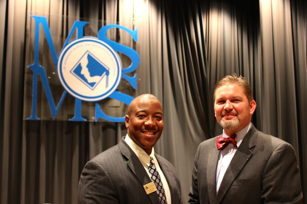 MSMS Executive Director Dr. Germain McConnell and Opening Convocation guest speaker Mr. Shannon Eubanks (MSMS Class of 1990).