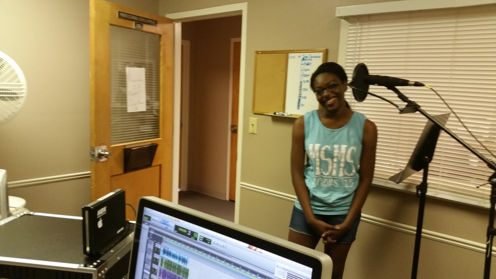Sumayia Young records for Rural Voice Radio