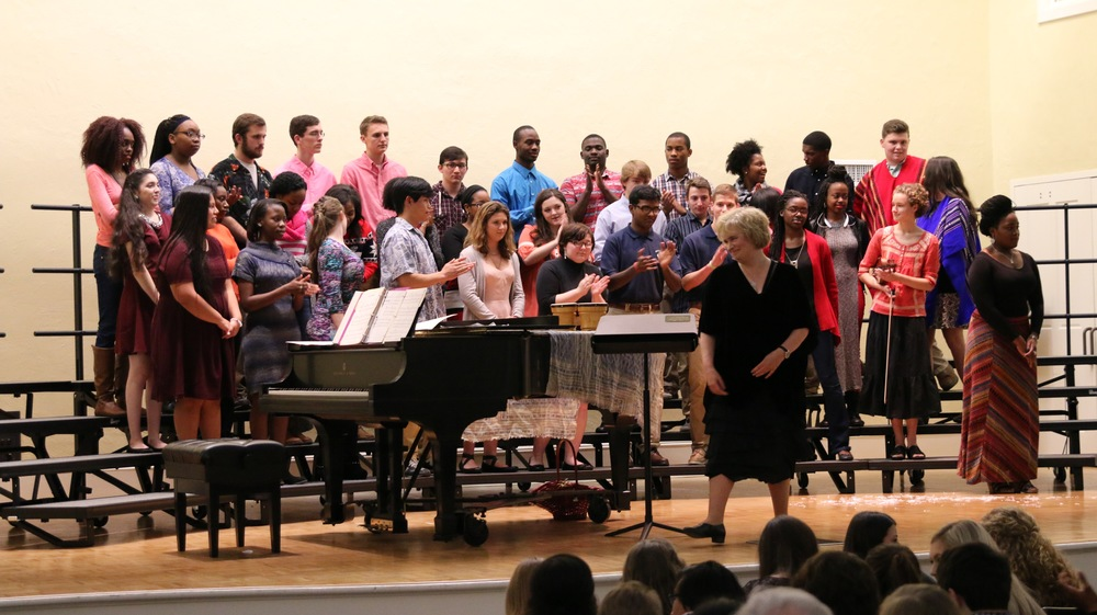 From the recent World Language Christmas Concert. Photo courtesy Dr. Heath Stevens.