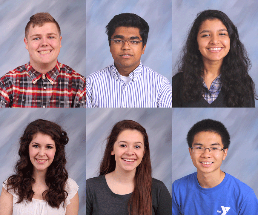 MSMS 2016 National Merit Commended Students: Noah Hunt, Achintya Prasad, Wrishija Roy, Emily Shy, Claudia Vial, and Baili Zhong.