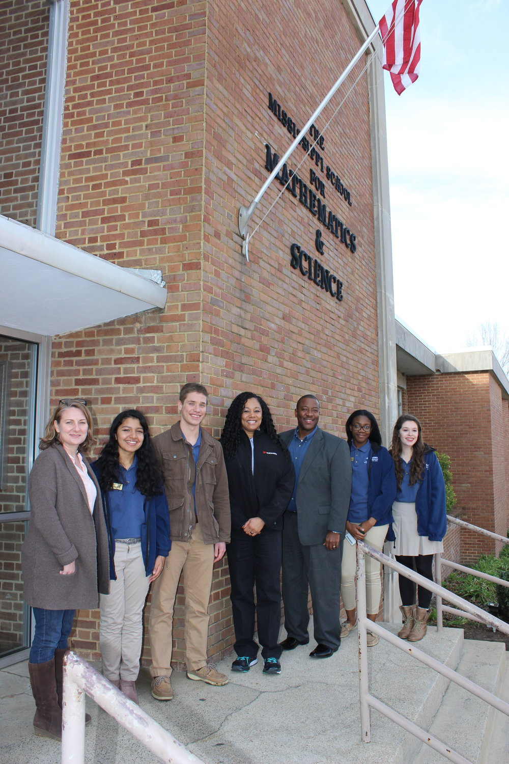 From left: Dr. Heather Hanna, Wrishija Roy, Braeden Foldenhaur, Kebebe Wilson, Dr. Germain McConnell, Chinwe Udemgba, and Claudia Vial.