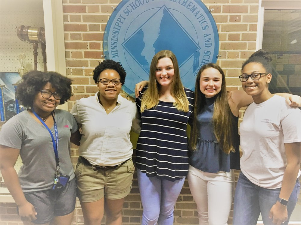 From left to right:  Amber Means, Mia Riddley, Gabby Kennedy, Madison Wypyski, Erin Williams.  Not pictured: Sarah Swiderski.