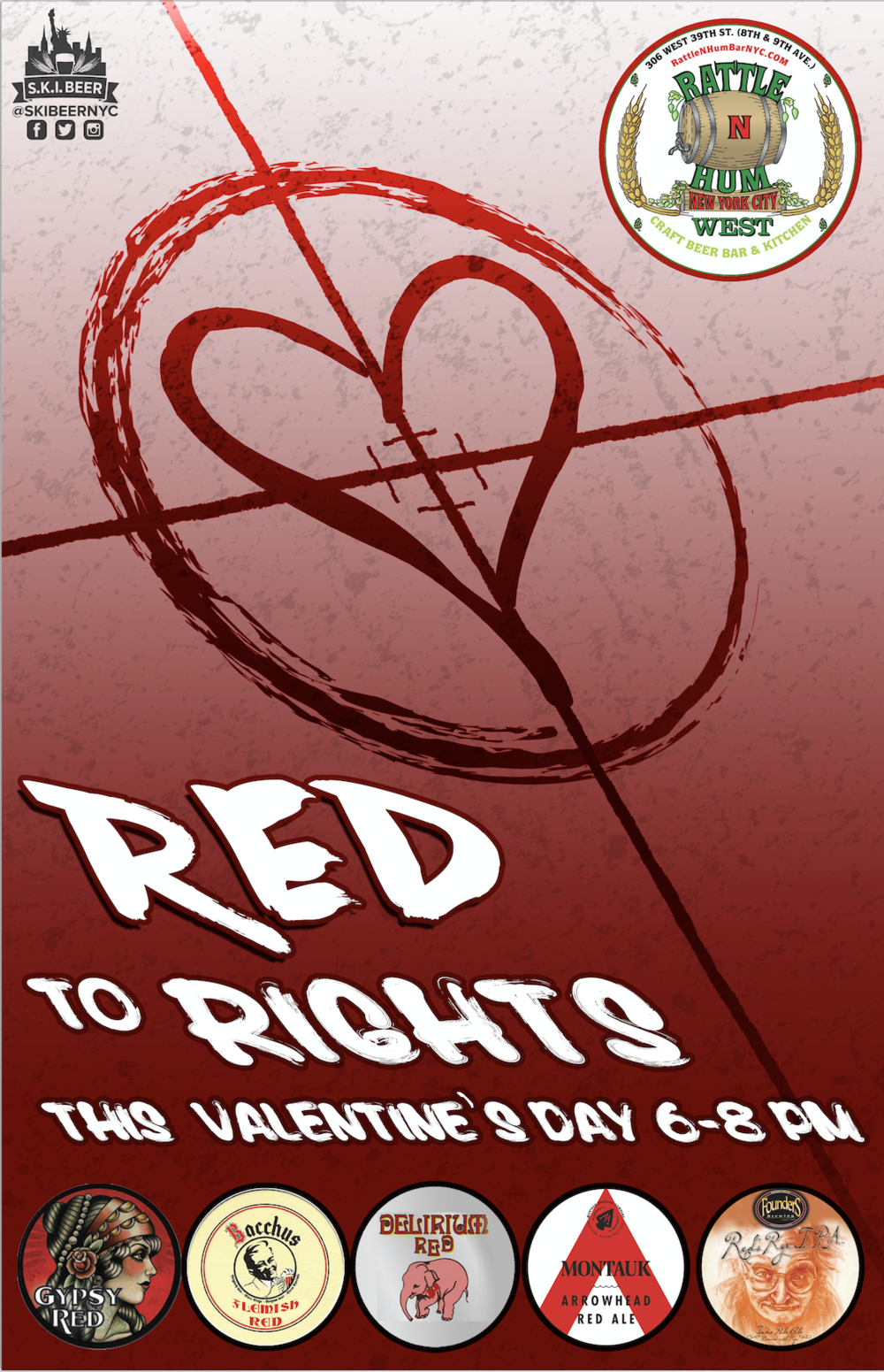 Valentine's Day: Red to Rights! - Rattle N Hum West — S K I