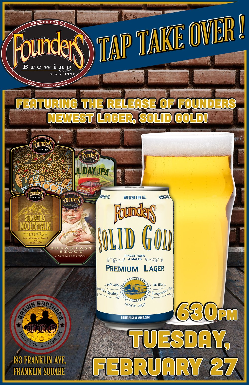 BREWS BROTHERS _ FOUNDERS SOLID GOLD TAP TAKE OVER.jpg