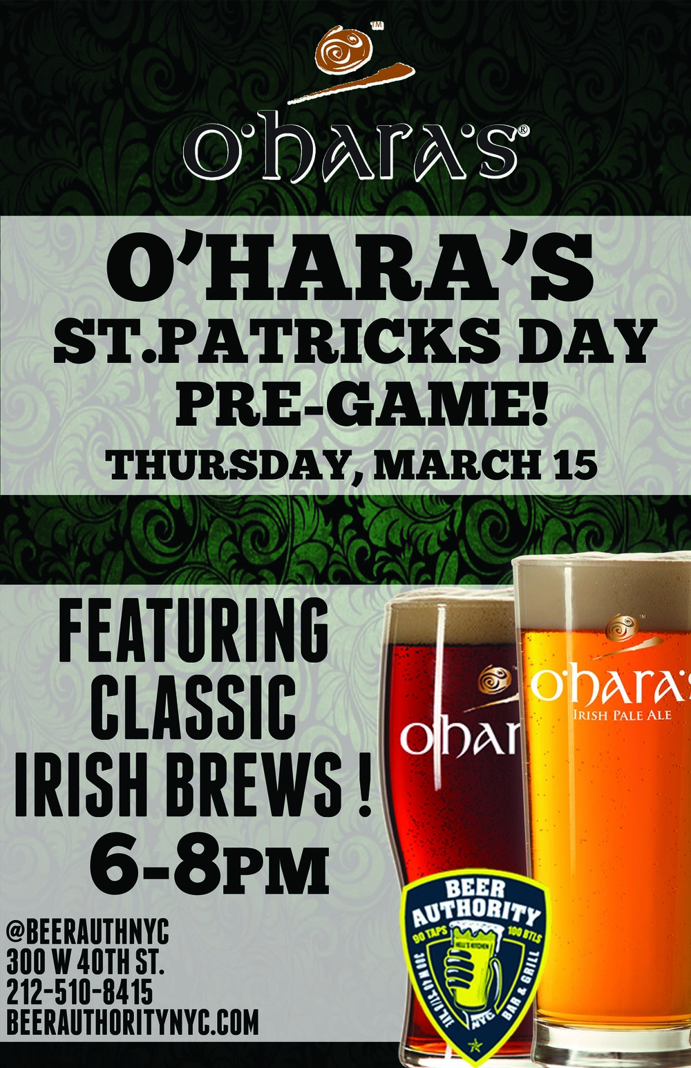 BEER AUTHORITY_OHARAS ST PATS PRE GAME.jpg