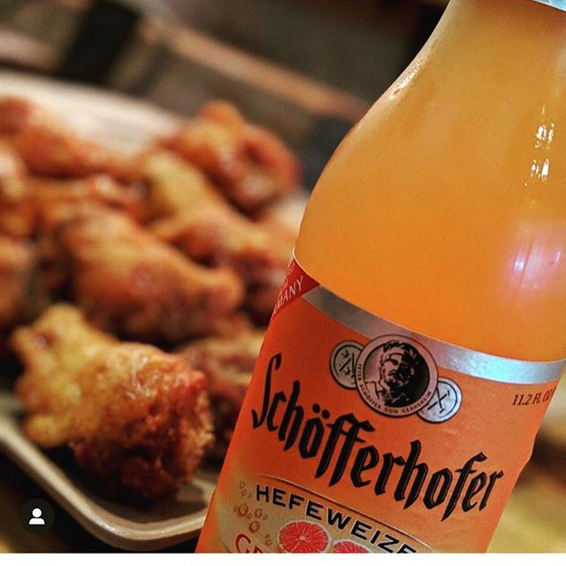 Wing Wednesday any one ? Just ate breakfast and we're already thinking about lunch! 🍗🍻 📸 @mikhig . . . . #germanbeerweek #germanbeer #importbeer #schofferhofergrapefruit #wingwednesday #craftbeernyc #nyc #nycbeer #beer #beerdistributor #grapefruit  #grapefruitbeer #beerforbreakfast #earlybird @schofferhoferus