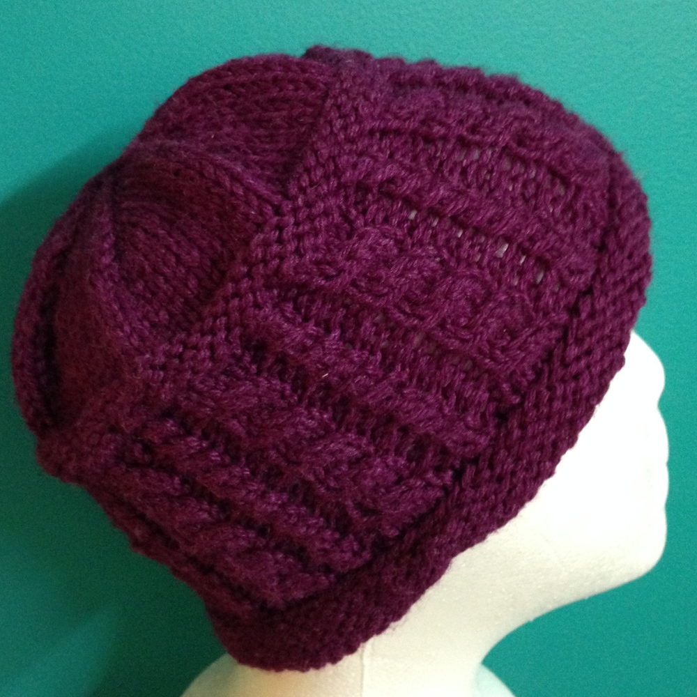 Purple Cable Hat