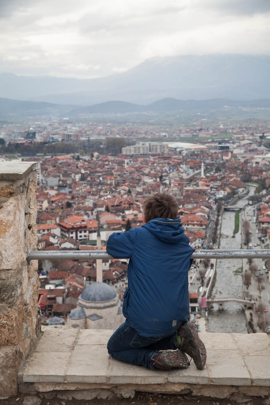 Looking out over Prizren