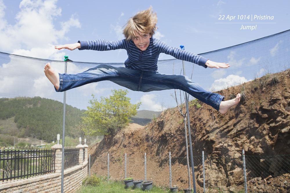 David jumping high!