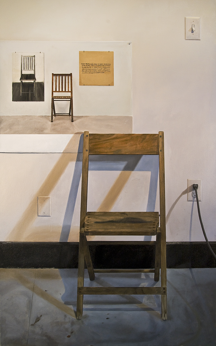 """One in Six Chairs"", 2012 Oil on Canvas,  45.5"" x 28"""