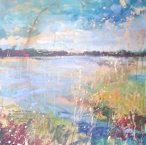 """Expressionistic Marsh 24""""X24"""""""