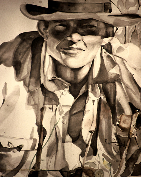 Watercolor, Cowboy