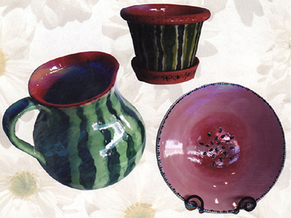 Pottery, Watermelon Design