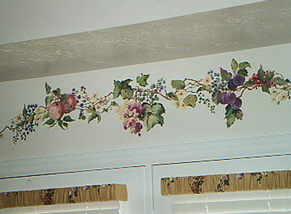 Mural, Fruit Accents above French Doors