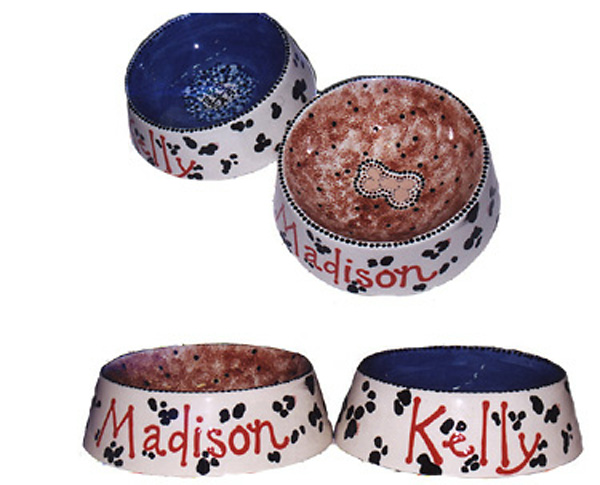 Pottery, Madison Kellys Dog Bowls