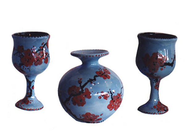 Pottery, Chinese Plum Blossoms