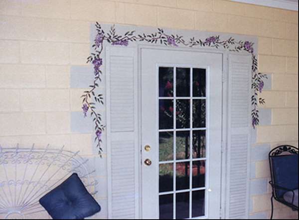 Mural, Wysteria Around a Door