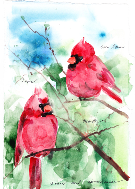 """Cardinals: Our love, hope, beauty, peace and abundance"""