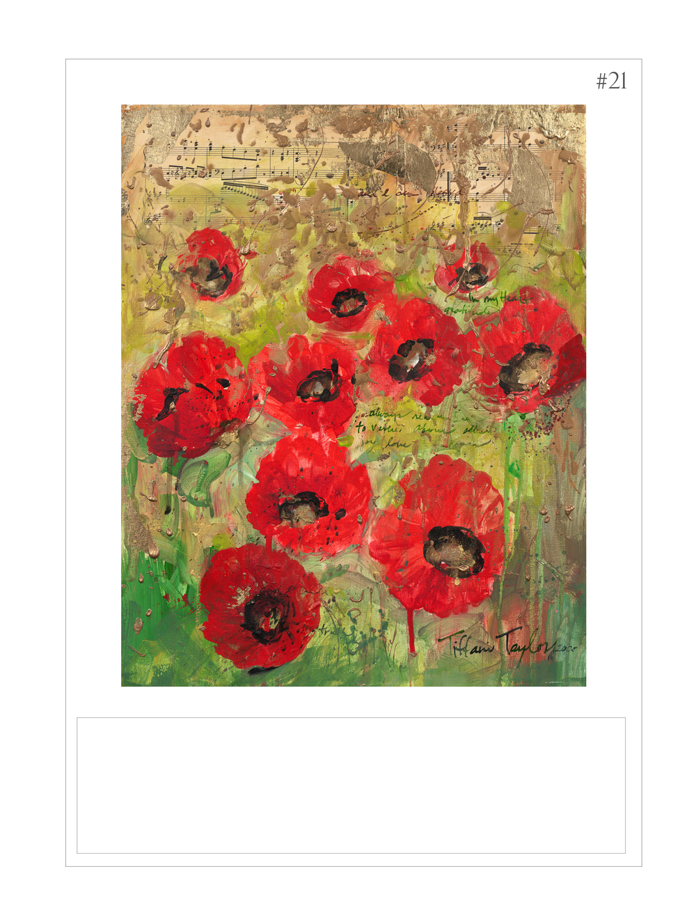 """Red Poppies: Joy, Love"""