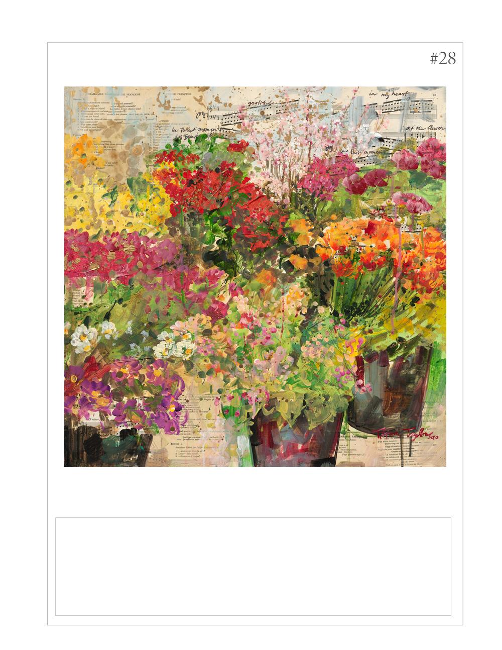 """Expressionistic Flower Market: Gratitude"""