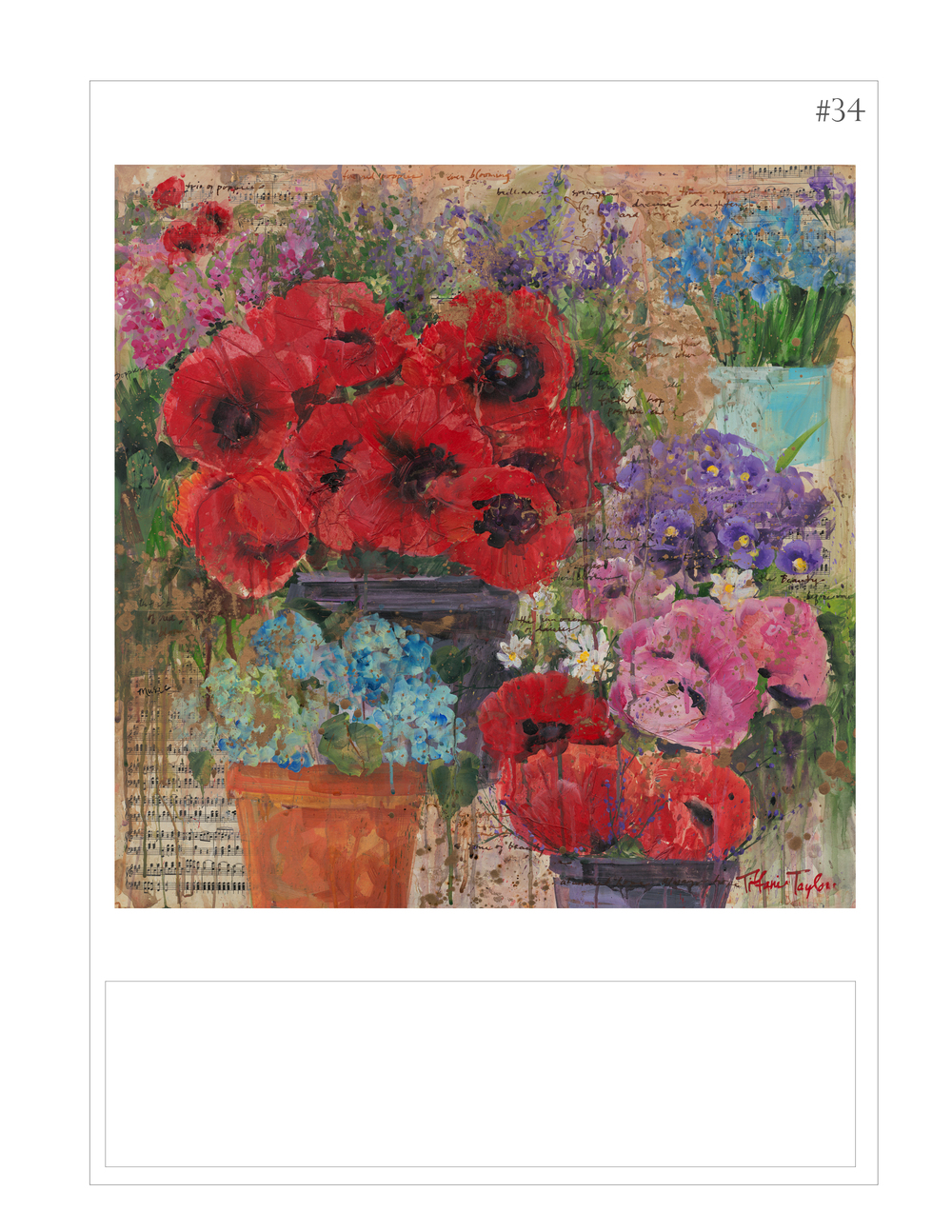 """Poppies: Flower Market Composition"""