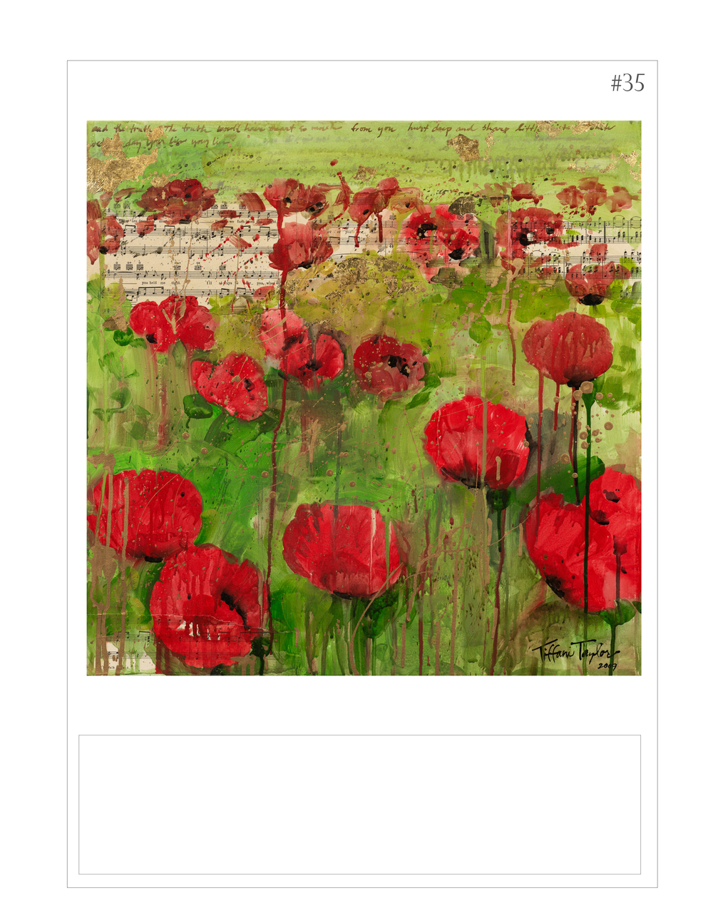 """Red Poppies: Sheet Music, Heart"""
