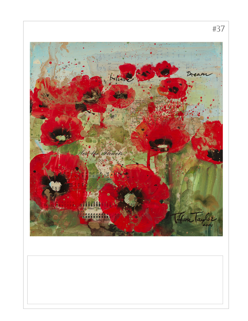 """Red Poppies in the Field: Believe, Dream, and I"""