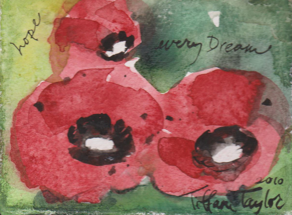 Red Poppies:  Hope, every dream...